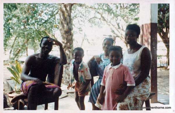 Thomas' Host Family in Lome Togo