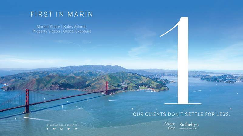 Golden Gate Sotheby's International Realty Number One in 2017 in Marin County