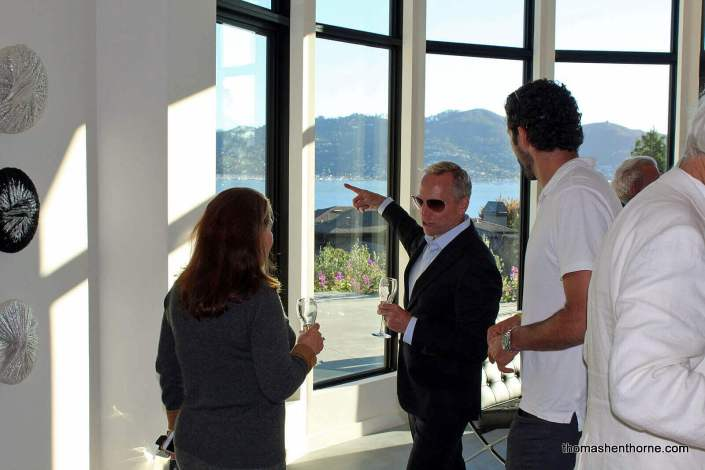 Thomas pointing out some of the home's finer details