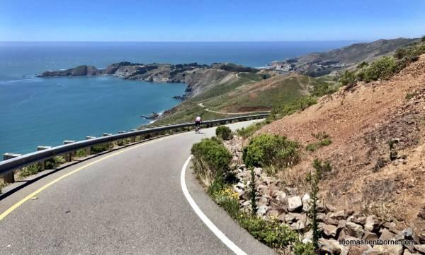 Biking in the Marin Headlands