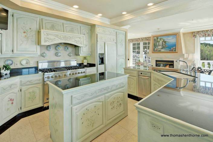 Designer showcase kitchen at 190 Gilmartin Drive in Tiburon