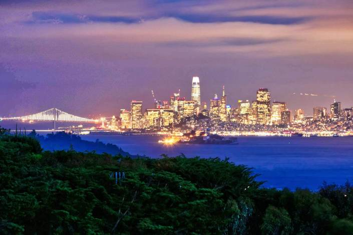 San Francisco skyline view from 190 Gilmartin Tiburon