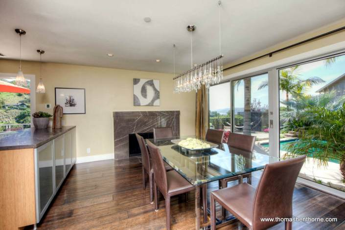 Dining Room Opens to Pool