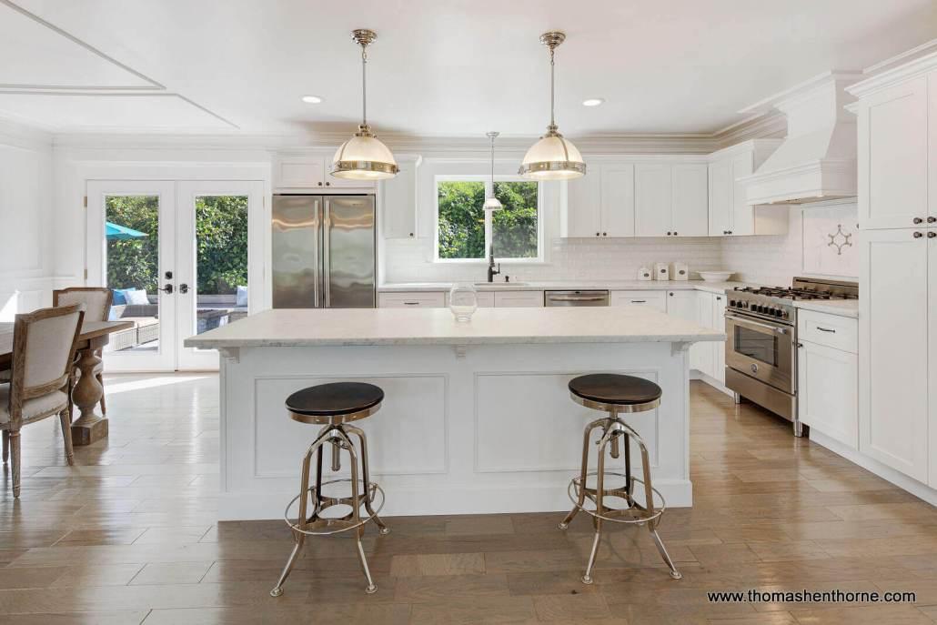 Kitchen with island at 65 Los Ranchitos Road San Rafael