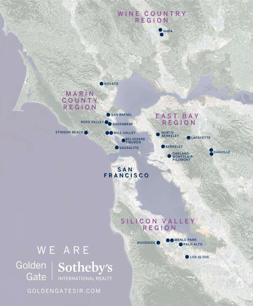 Map of Golden Gate Sotheby's Offices