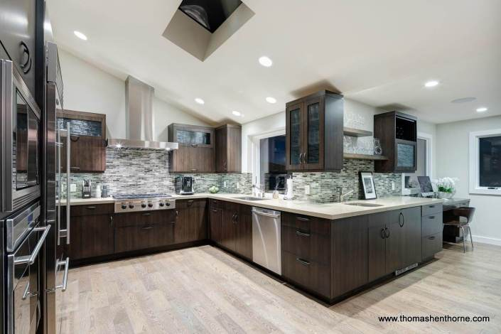 Kitchen with Wet Bar and Work Station