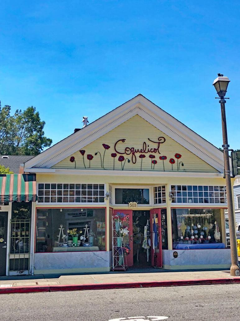 Coquelicot Storefront Larkspur California