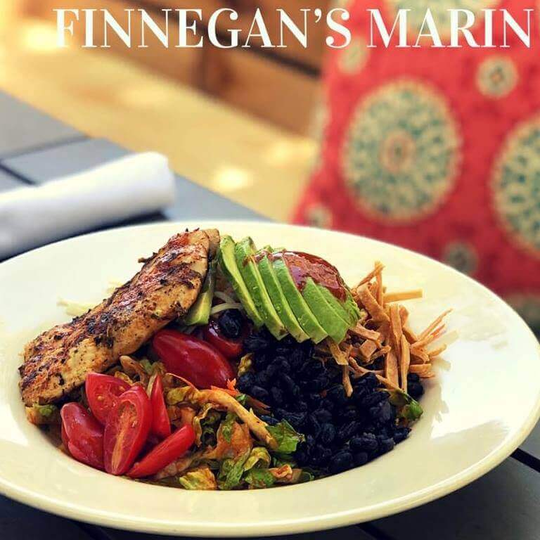 Finnegan's Marin logo and plate