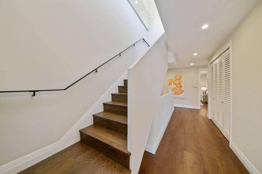 Modern wood stairway