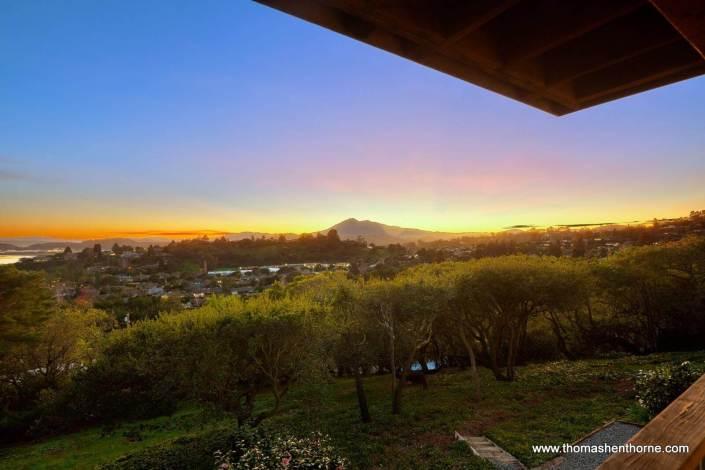 View of Mount Tamalpais at Dusk