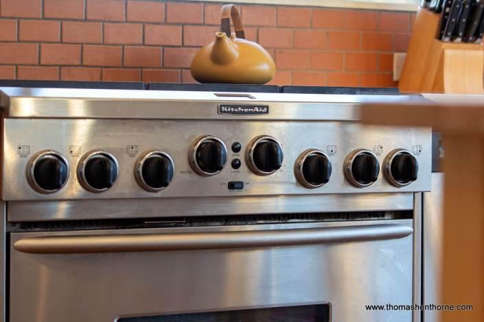 KitchenAid range stainless