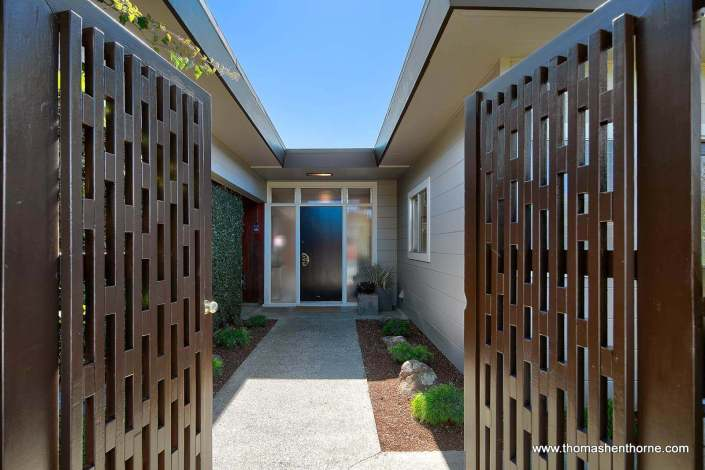 Entry to Midcentury Modern Home