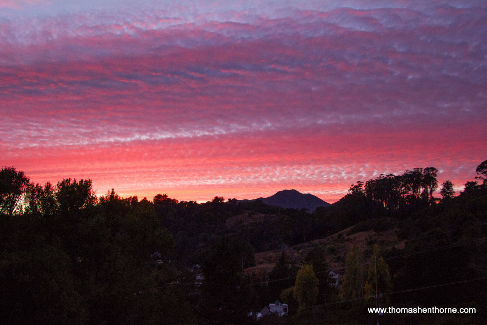 Sunset over Mt. Tamalpais