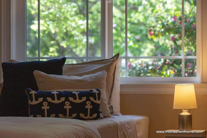 Bed with windows