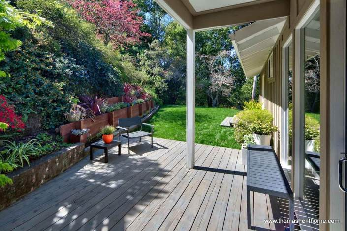 Deck with lawn