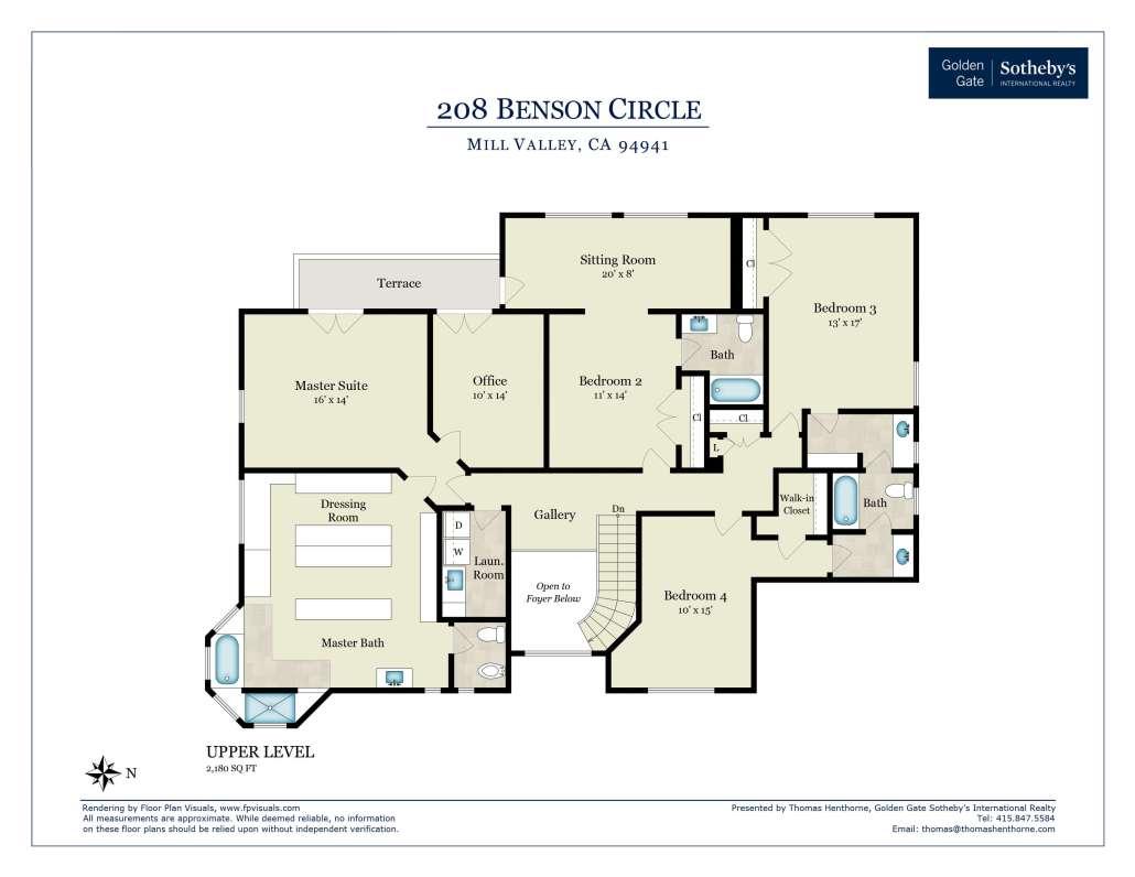 Floorplan Upper Level
