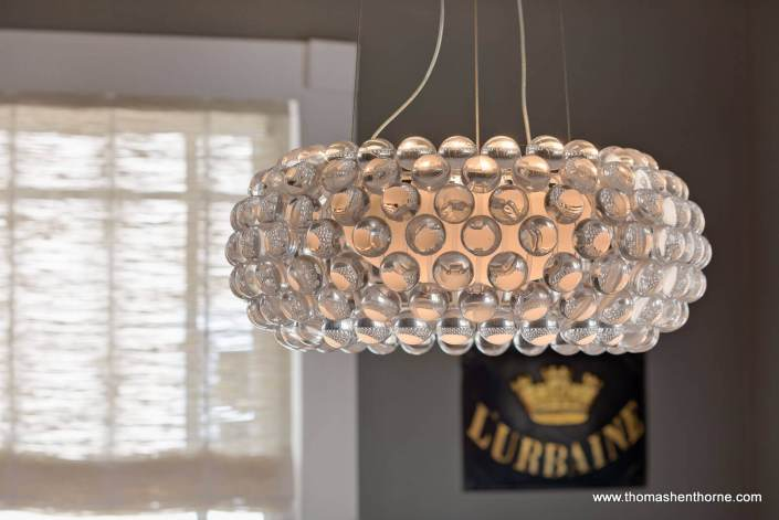 Stylish modern glass chandelier