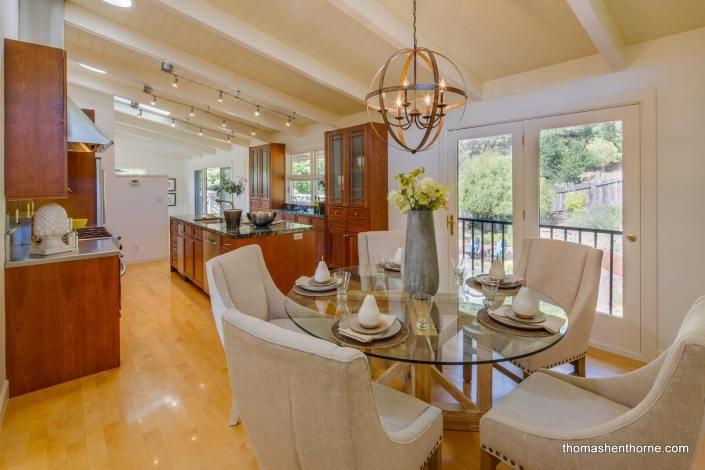 Open Dining Kitchen Area