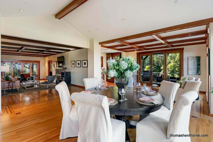 large room with dining table