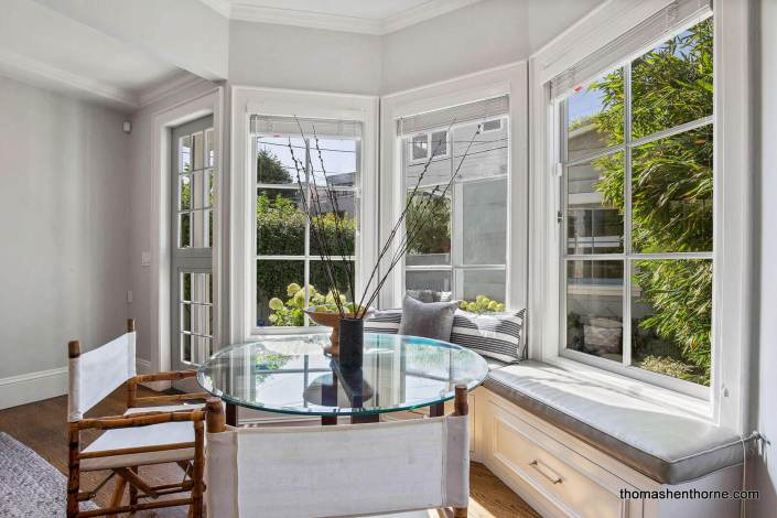 window seat in historic San Francisco home