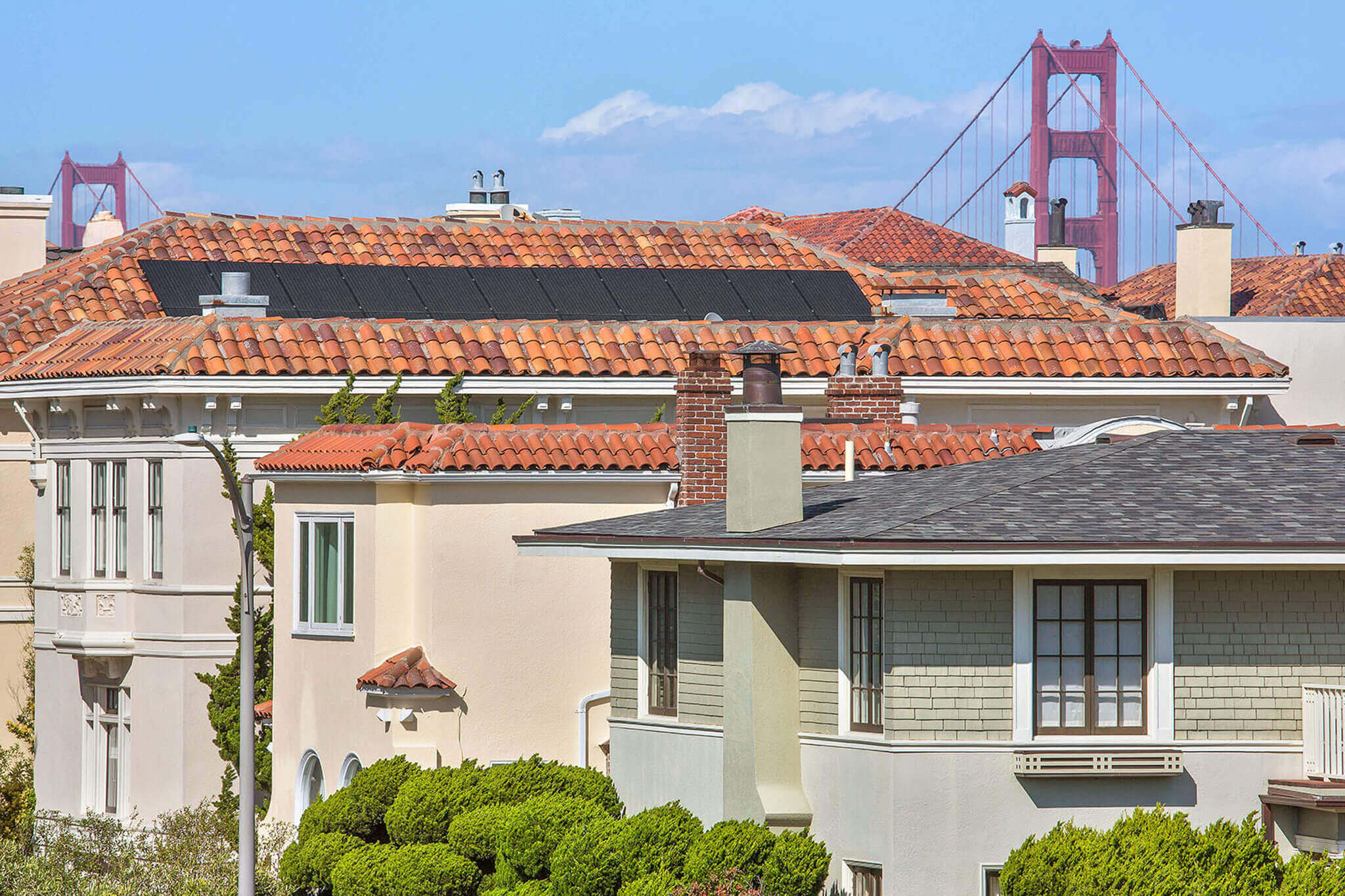 View of Golden Gate Bridge from Sea Cliff Neighborhood