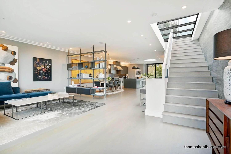 1408 Douglass Street Main Level Living Room and Kitchen