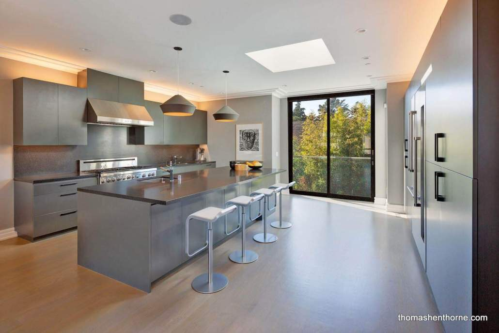 The Dine-In Kitchen Overlooks the Spacious Backyard