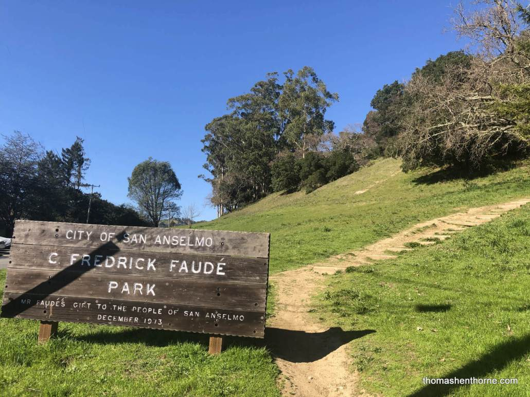 Faude Park Sign in San Anselmo