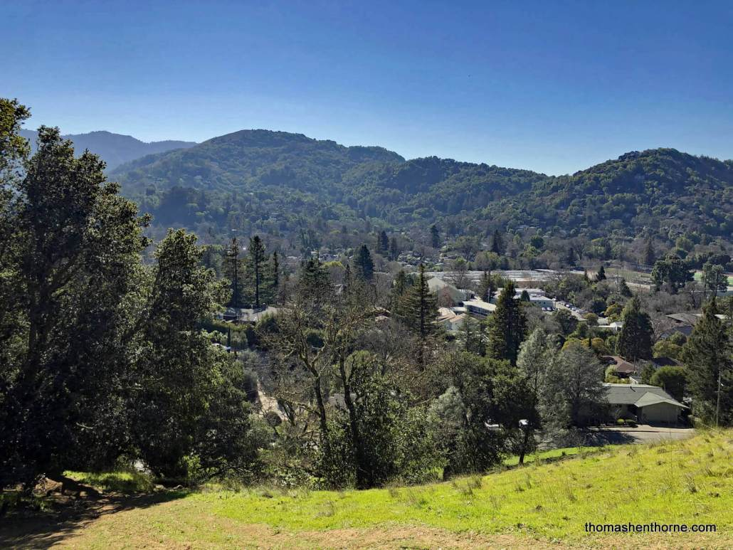 View of Drake High School from Faude Park San Anselmo