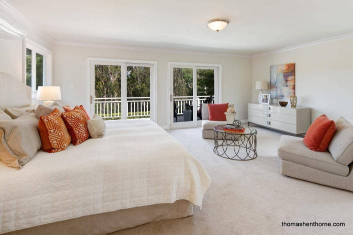 Master bedroom at 35 West Seaview Ave in San Rafael