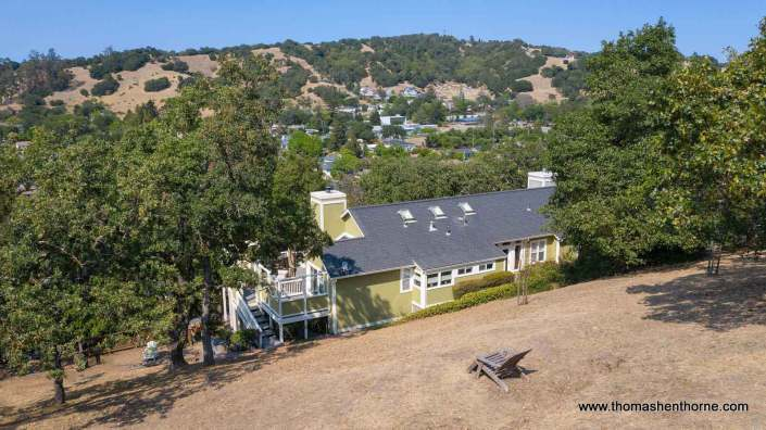 aerial view of 6 Oak Park Drive in Novato