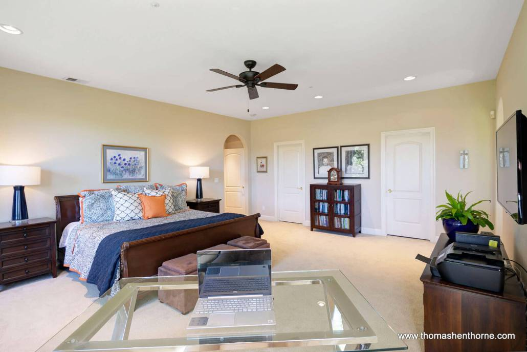 master bedroom with home office