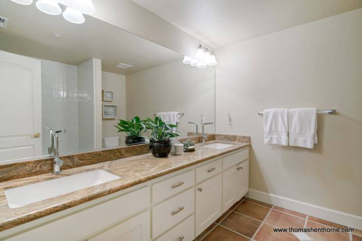 Bathroom with dual sinks