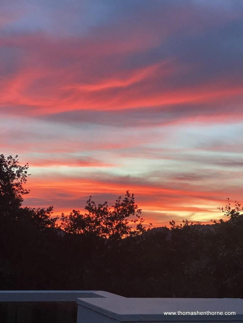 Sunset in novato, california