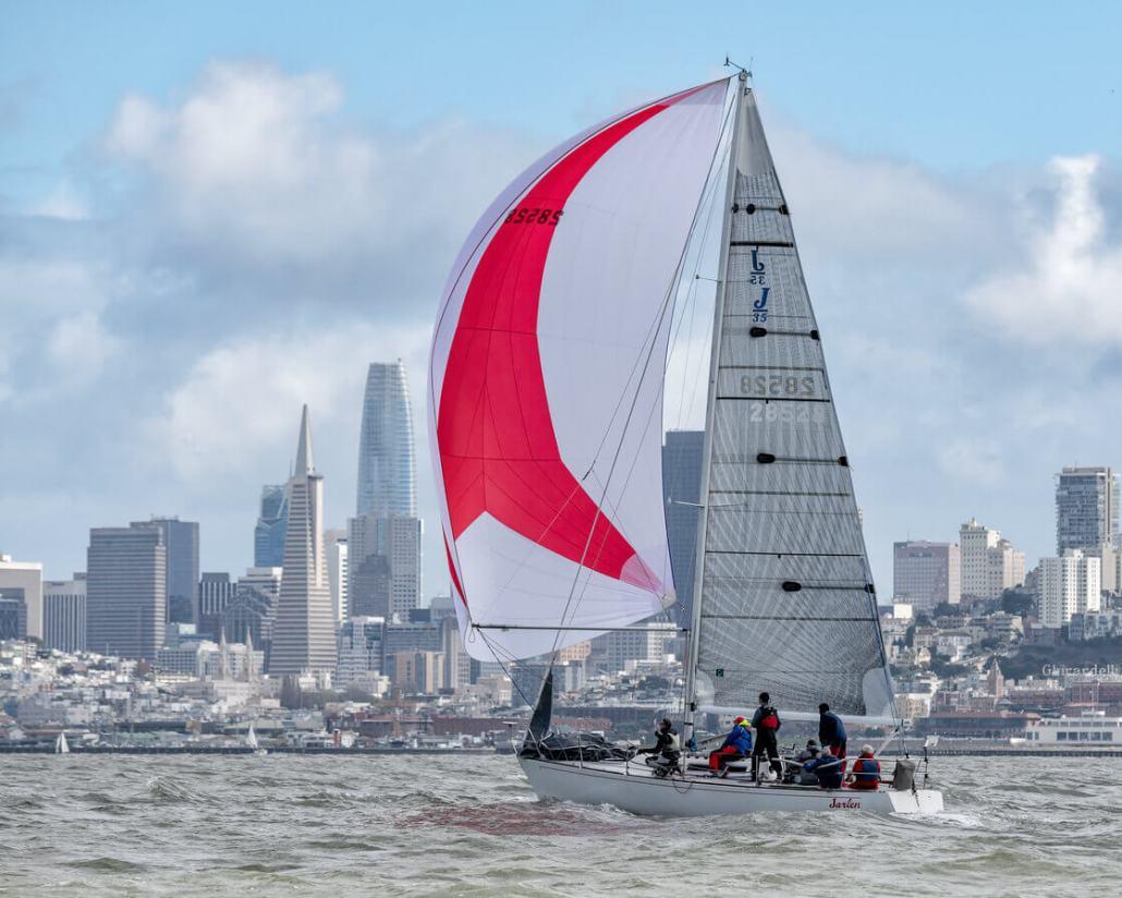 sailboat and San Francisco skyline
