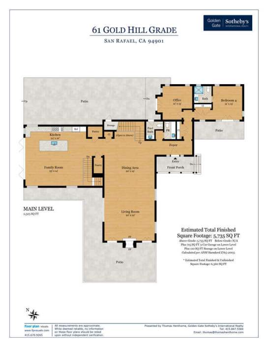 61 Gold Hill Grade Floorplan