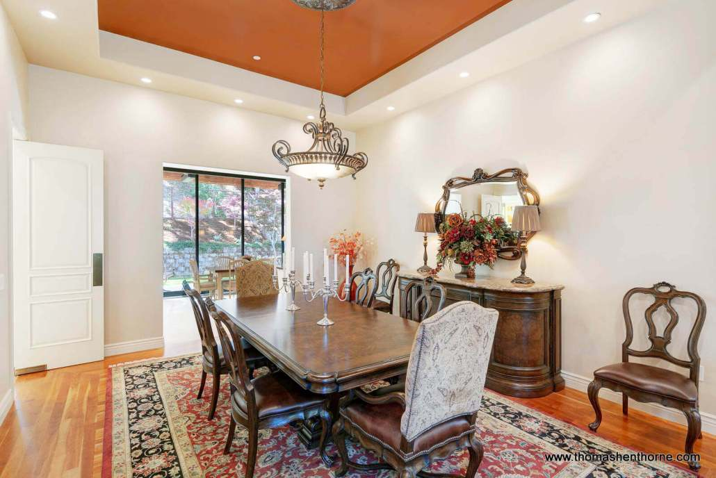 Formal dining room in luxury home for sale in Novato California