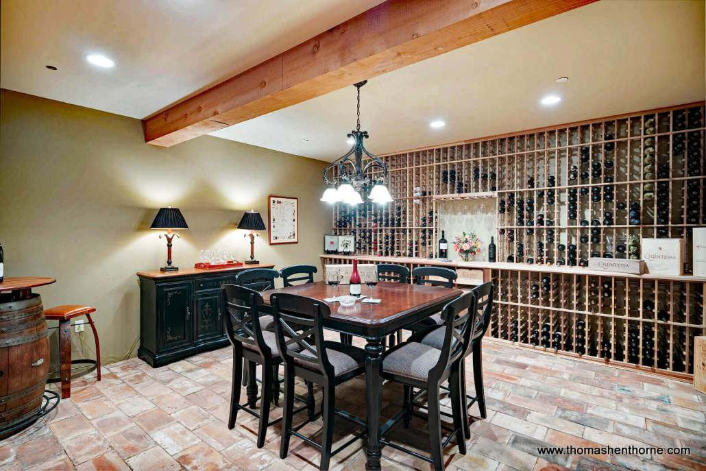 Home wine tasting room and cellar