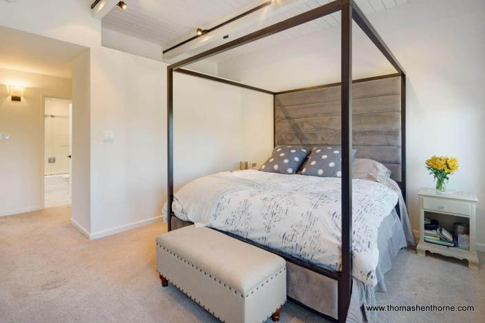 master bedroom with canopy bed