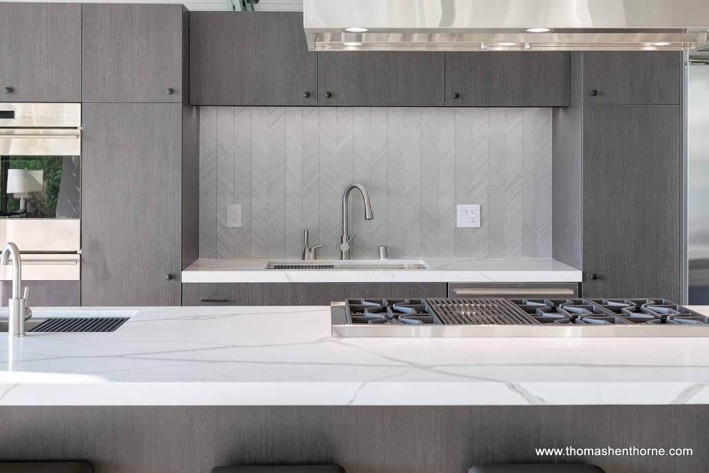 modern tile backsplash
