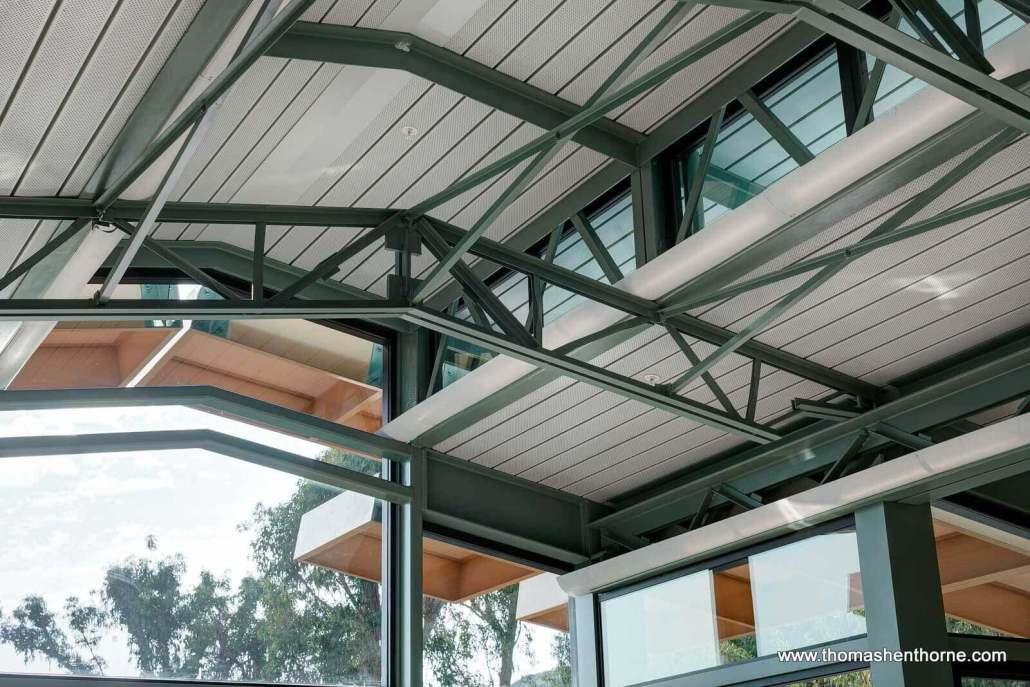 Steel beam ceiling