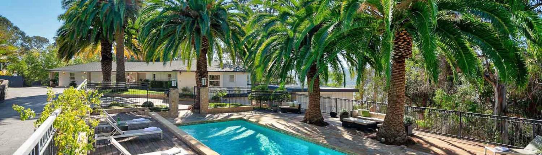 94 Deer Park Avenue San Rafael pool and home view