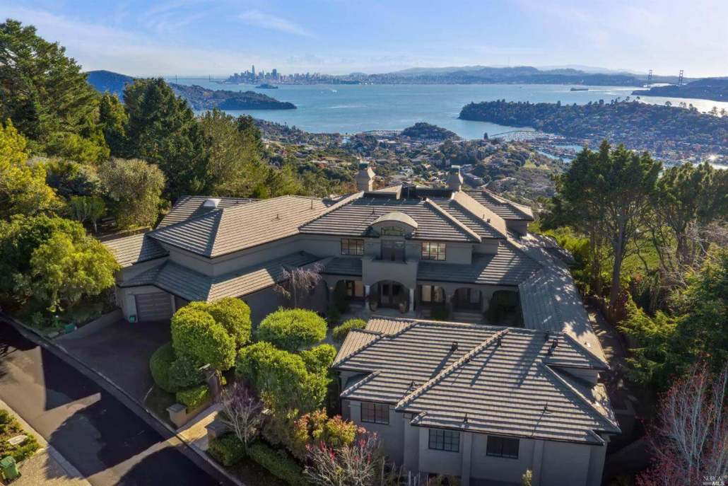 11 Place Moulin Tiburon Fourth most expensive home sold in 2020 in Marin County