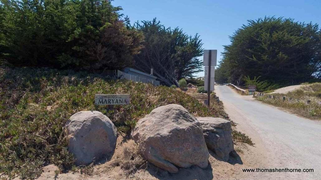 Entrance to 3005 Maryanna Drive Bodega Bay