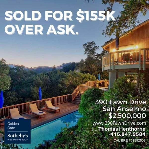 390 Fawn Drive San Anselmo jus sold