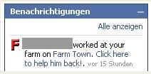 FarmVille Statusmeldungen