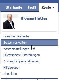 Facebook - Seiten verwalten