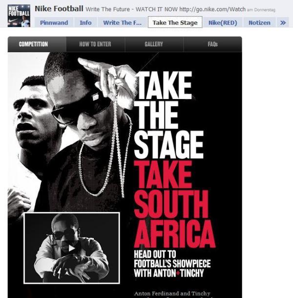Nike Football auf Facebook - Take the Stage