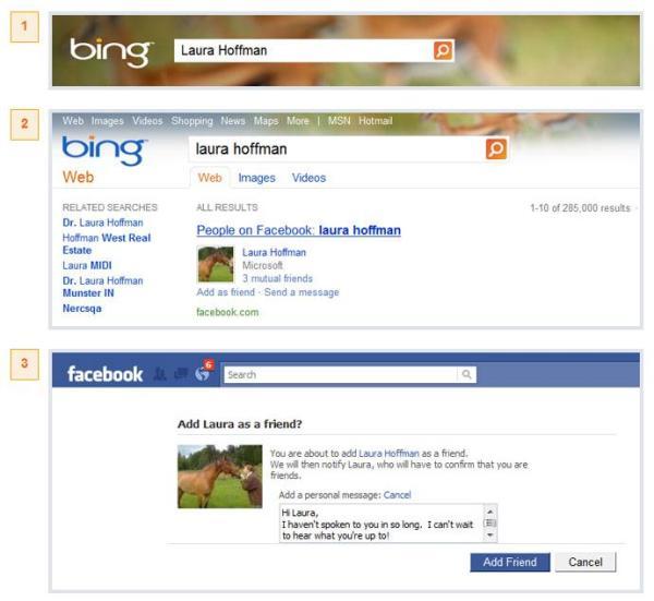 Facebook Profilsuche auf Bing
