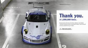 "Porsche Microsite ""Thank you"""